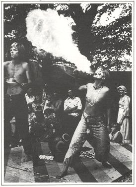 Fire breathing - Barsham Faire 1976
