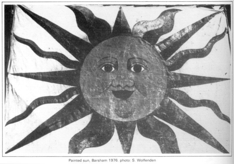 banner - painted sun