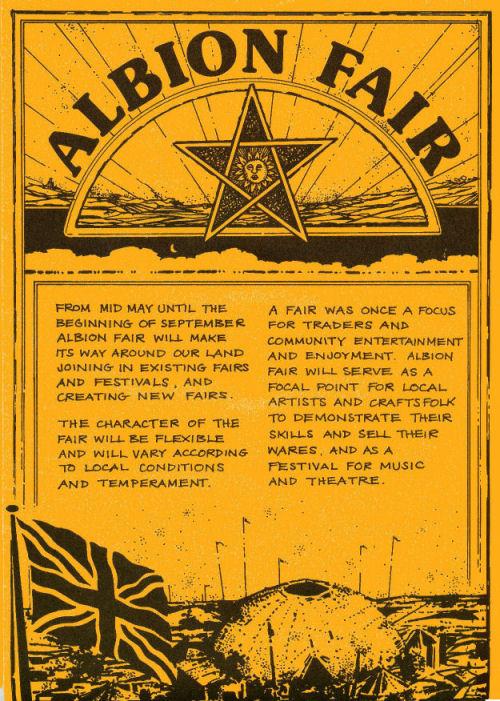 1978 Albion Fairs leaflet