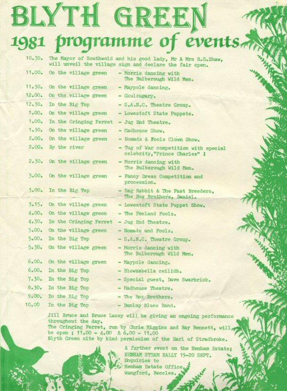 1981 Blythburgh programme
