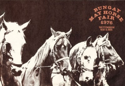 1976 Bungay May Horse Fair flyer front