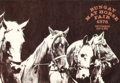 1976 Bungay May Horse Fair flyer front
