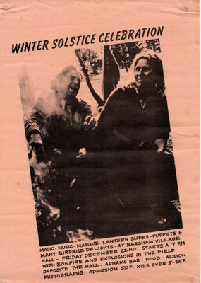 1978 Winter solstice Barsham Village Hall