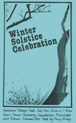 1979 Winter solstice Barsham Village Hall