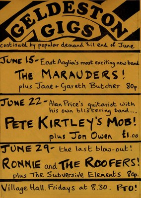 1979 Geldeston gigs